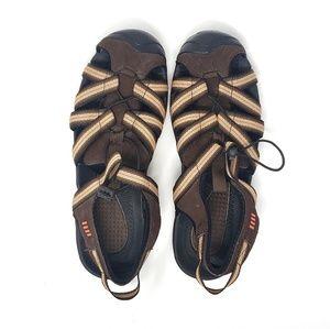 Land's End | Mens Brown Closed Toe Sandals 8D